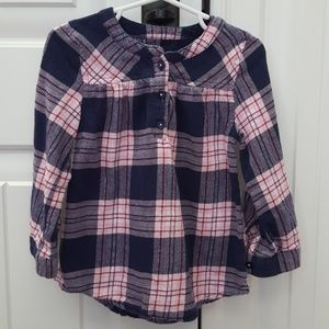 Pink & Navy Flannel